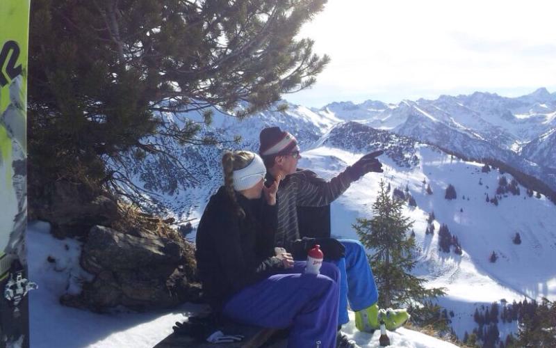 Ausblick auf der Skitour   Haus Alpenblick in Oberjoch